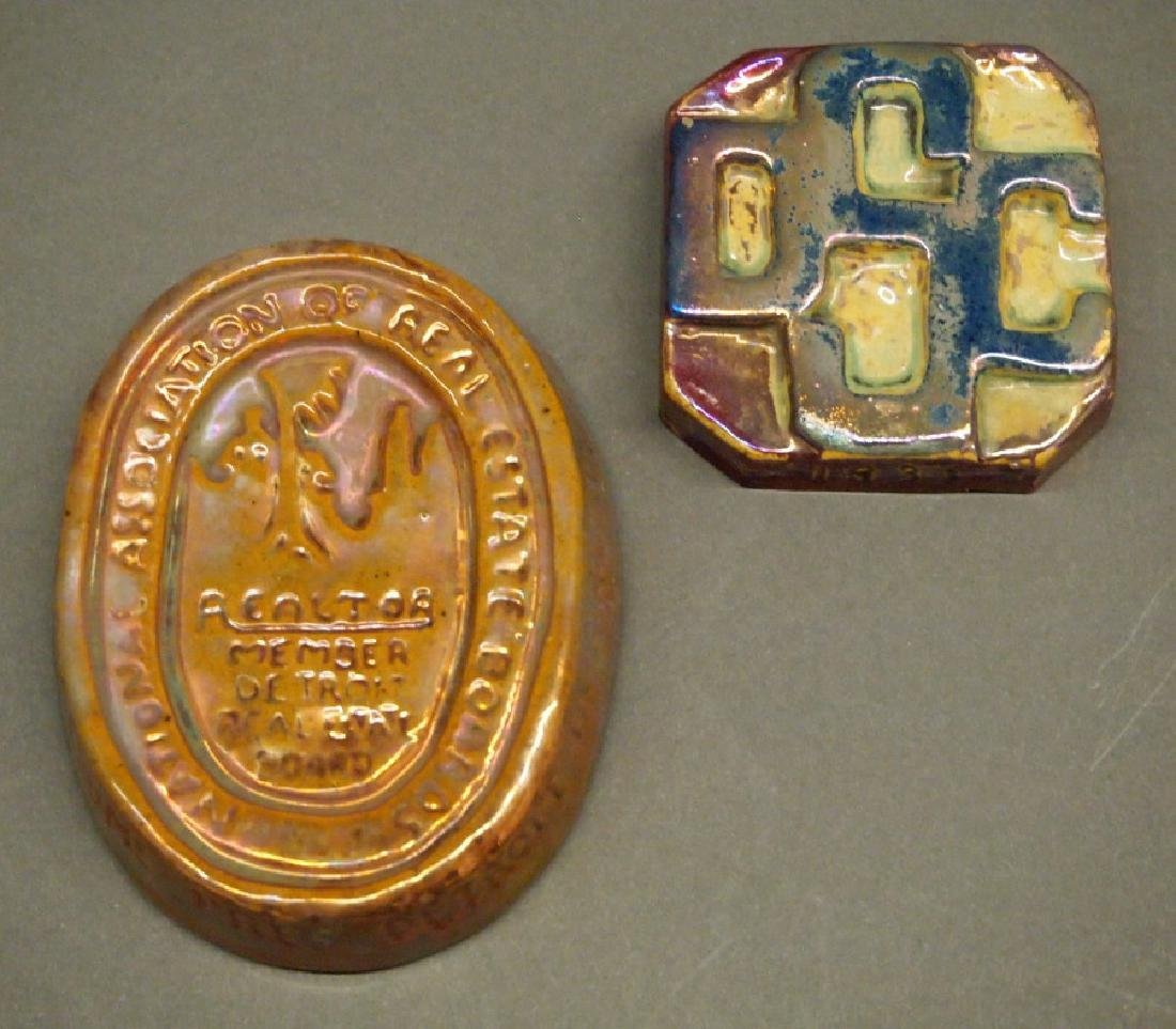 Pewabic Art Pottery paperweights