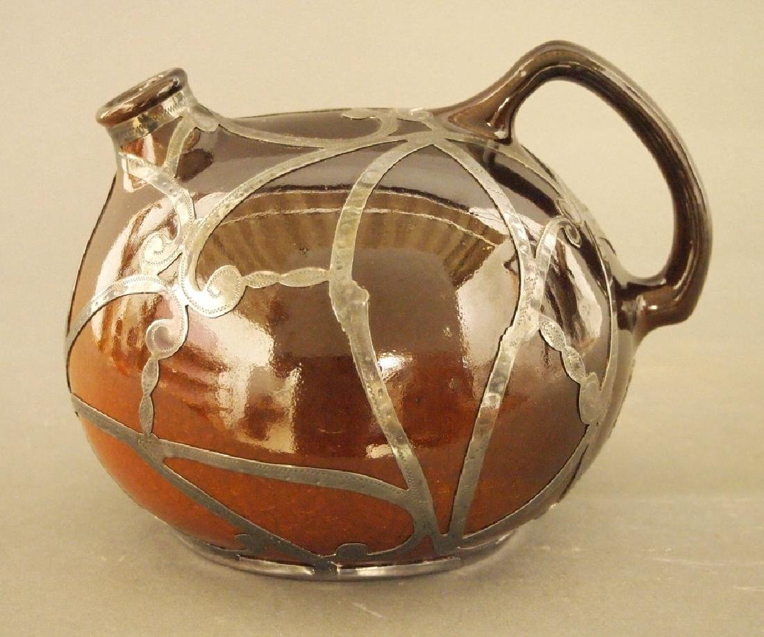 Owens Utopian jug with silver overlay - 3