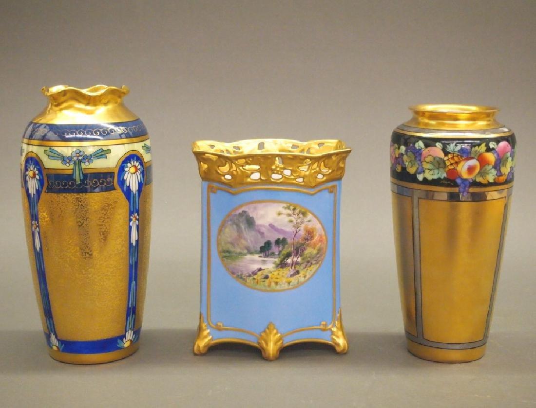3 Pickard vases
