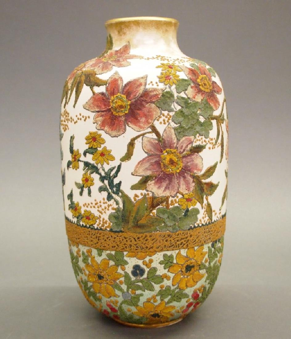 Doulton Burslem tapestry vase