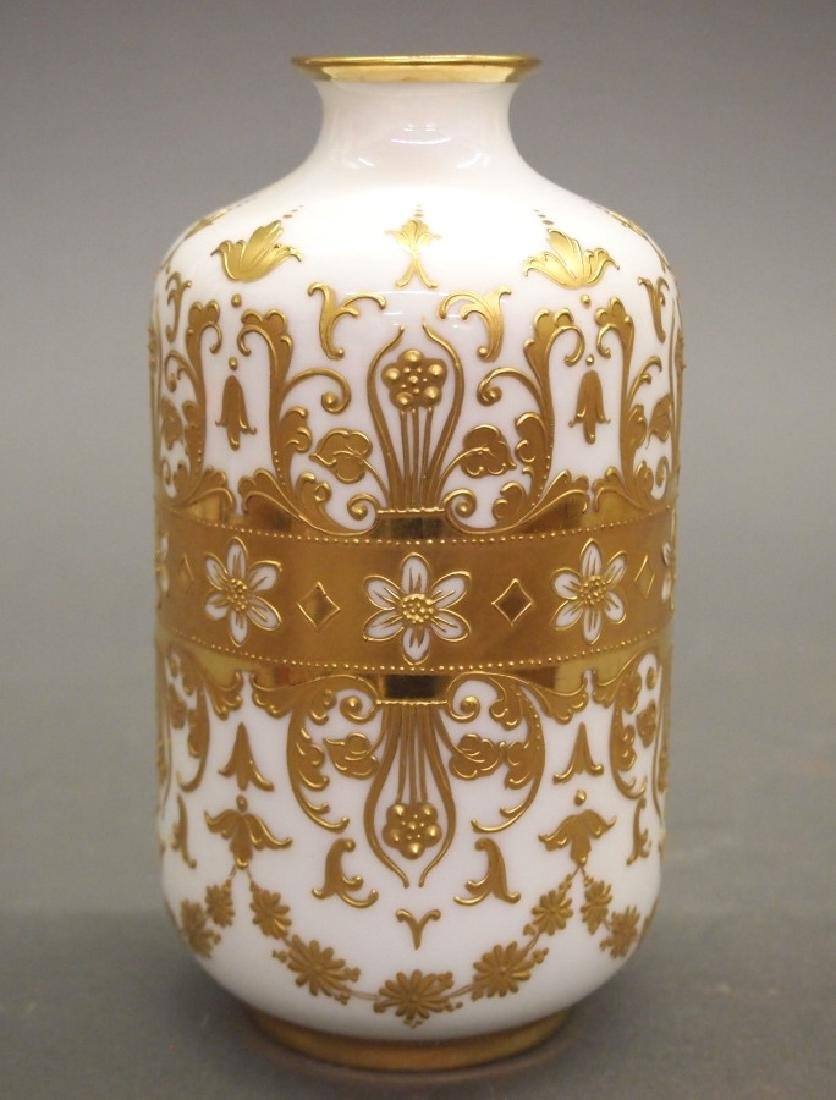 Royal Vienna Winter Allegory vase - 2