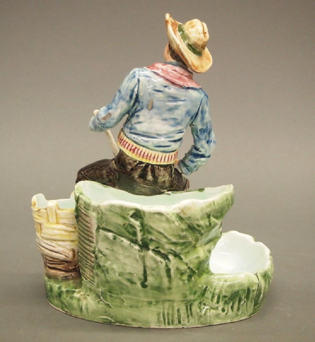 2 Majolica Figural Smoking stands - 4