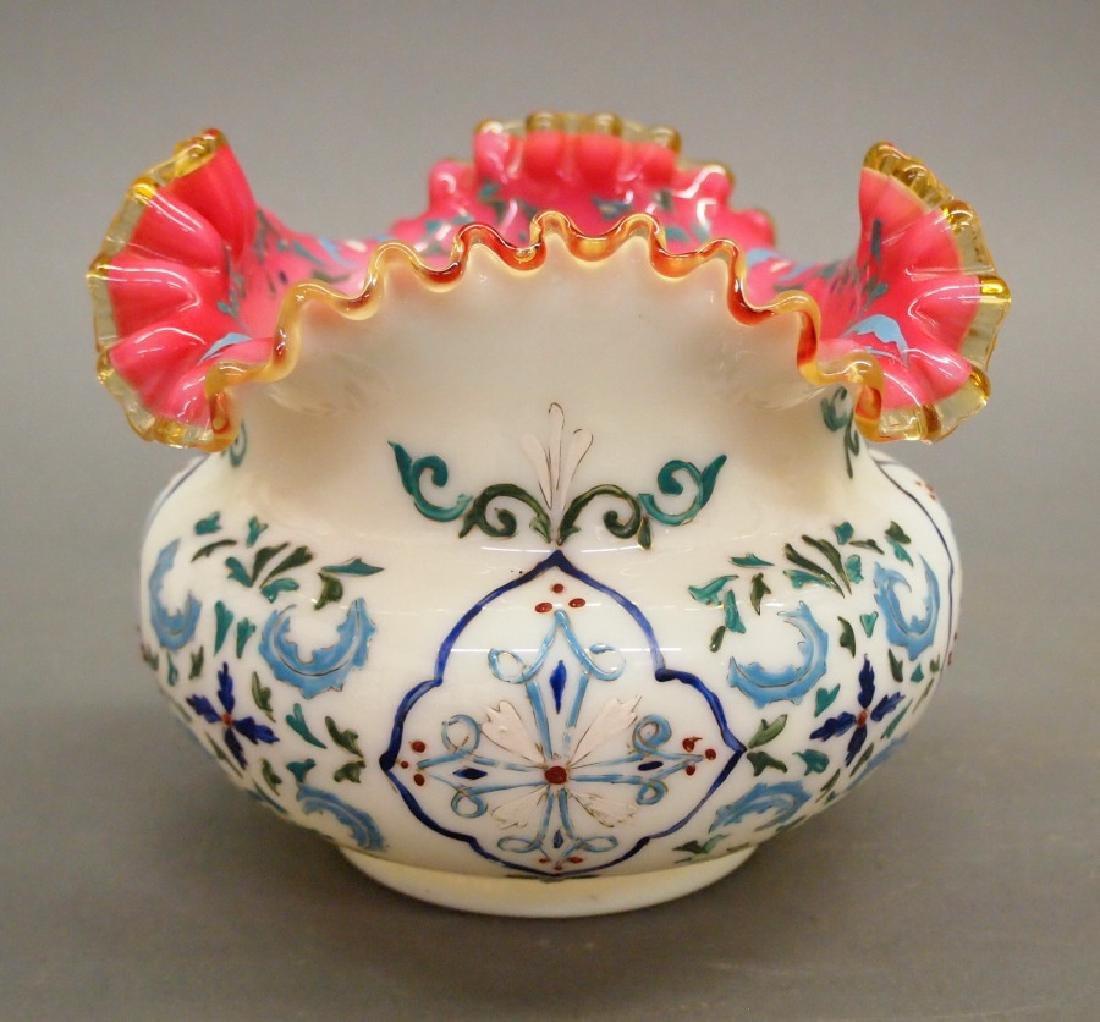 Bohemian Decorated vase