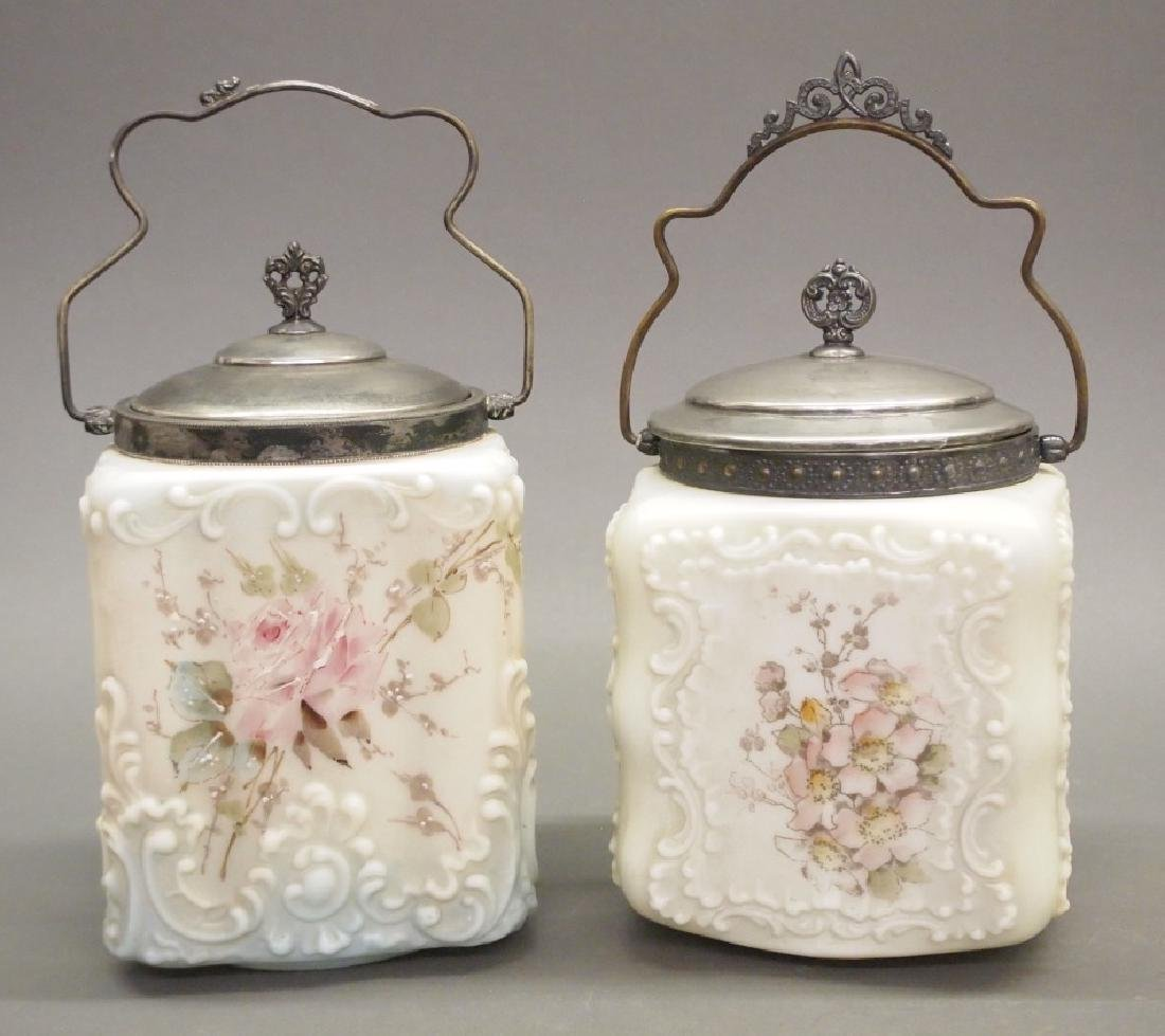 2 Wave Crest biscuit jars
