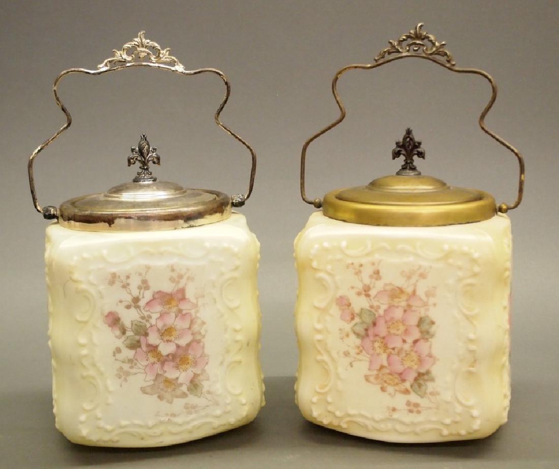 2 Wave Crest biscuit jars