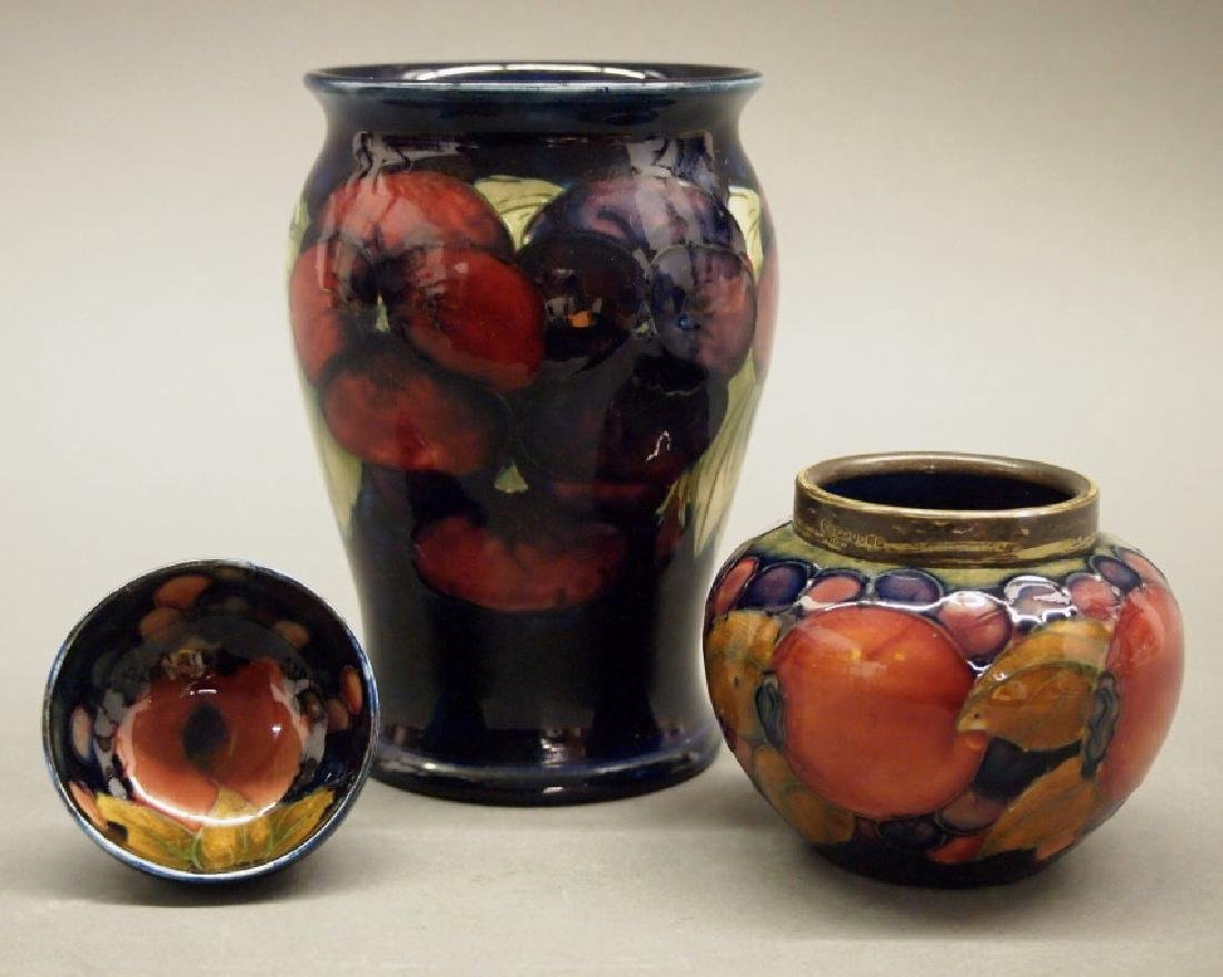 Moorcroft vases and open salt