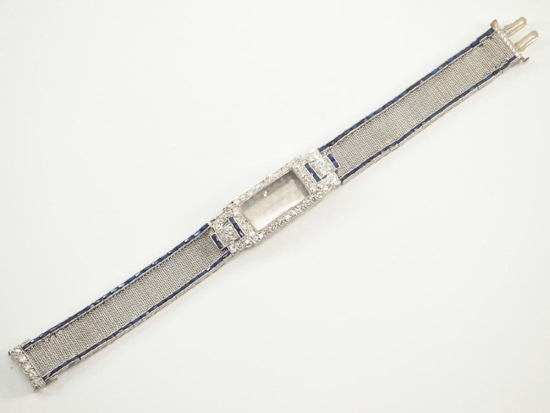 Platinum, Diamond, & Sapphire Ladies Watch Band