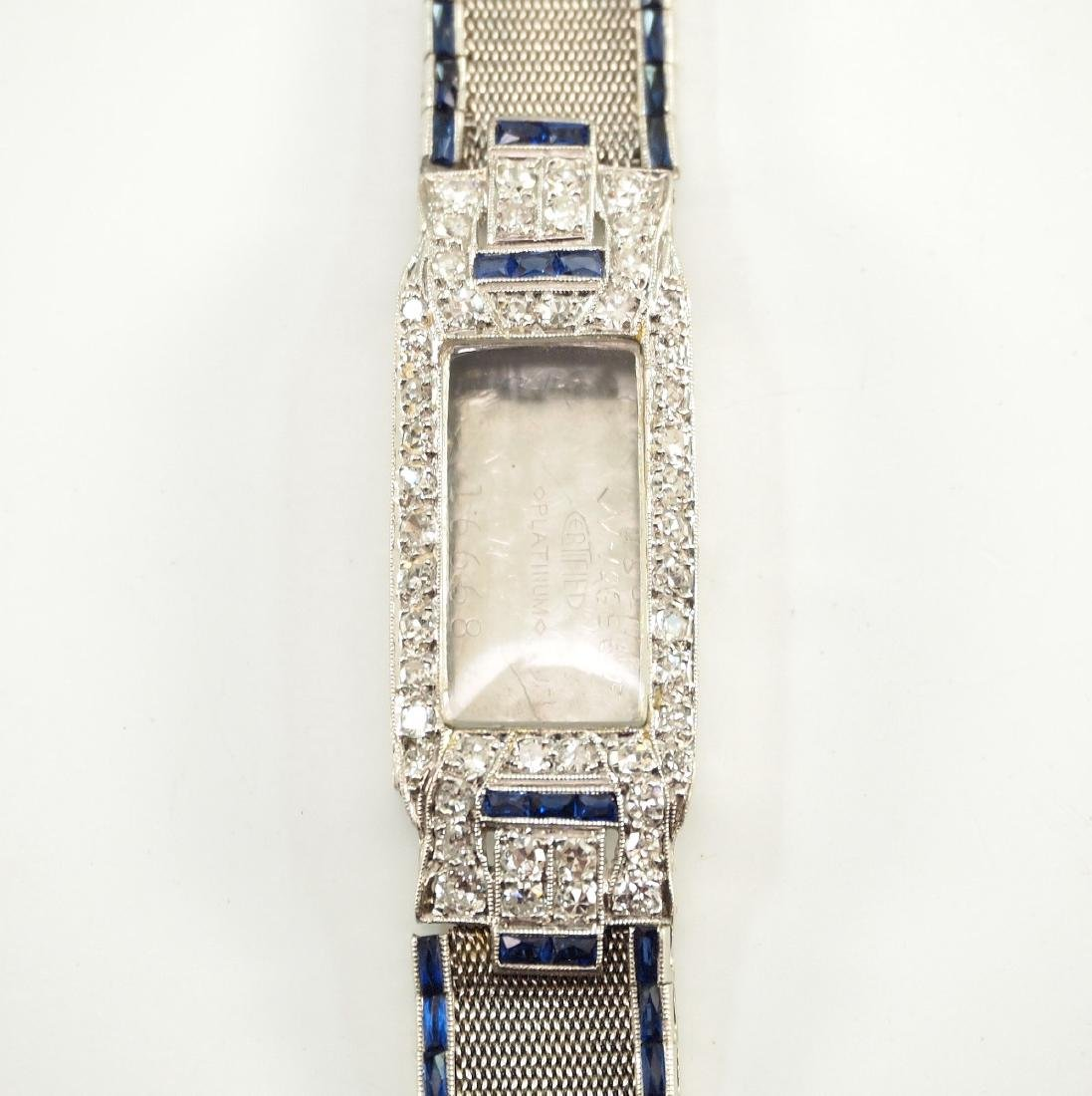 Platinum, Diamond, & Sapphire Ladies Watch Band - 2