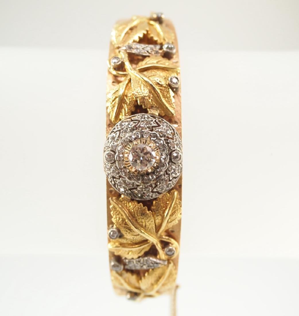 14 kt Yellow Gold & Diamond Bracelet