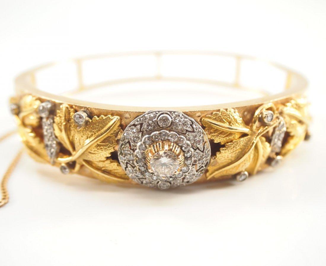 14 kt Yellow Gold & Diamond Bracelet - 2