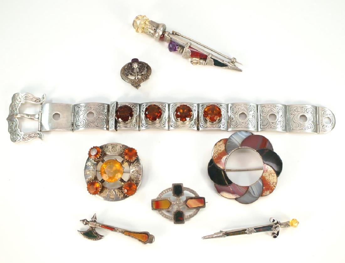 8 pcs of Scottish Jewelry