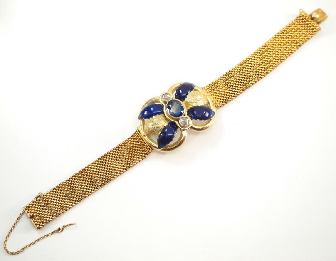 18 kt Yellow Gold Mesh Bracelet