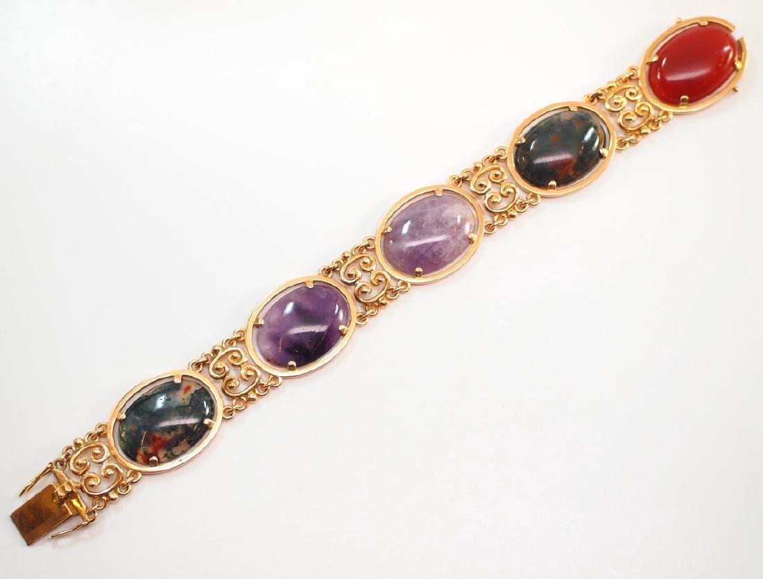 18 kt Yellow Gold & Hardstone Bracelet