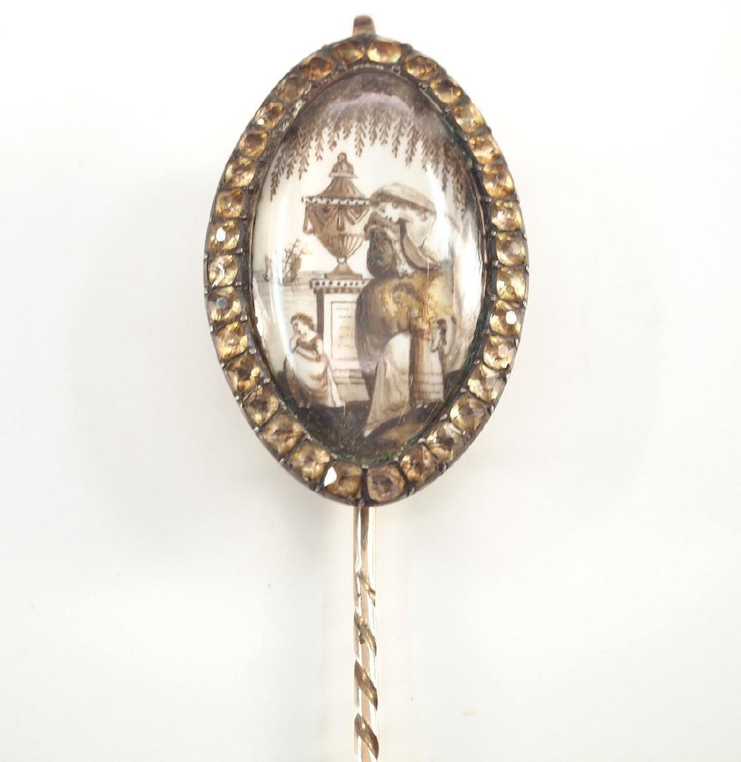 18th C. Georgian Mourning Pin