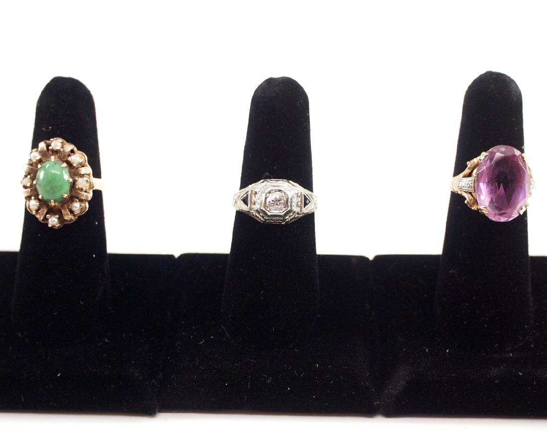 3 Vintage Gold Rings