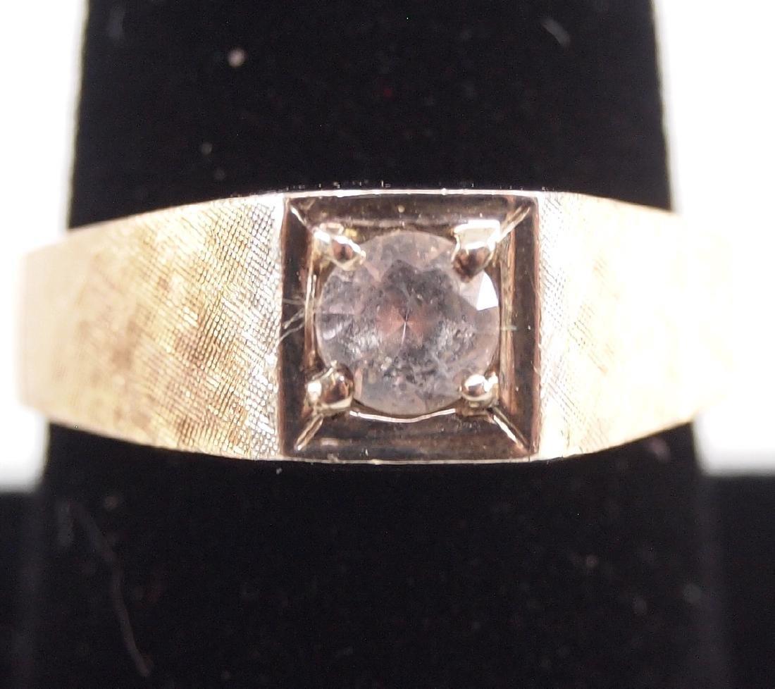 4 Yellow Gold Precious & Semi-Precious Stone Rings - 2