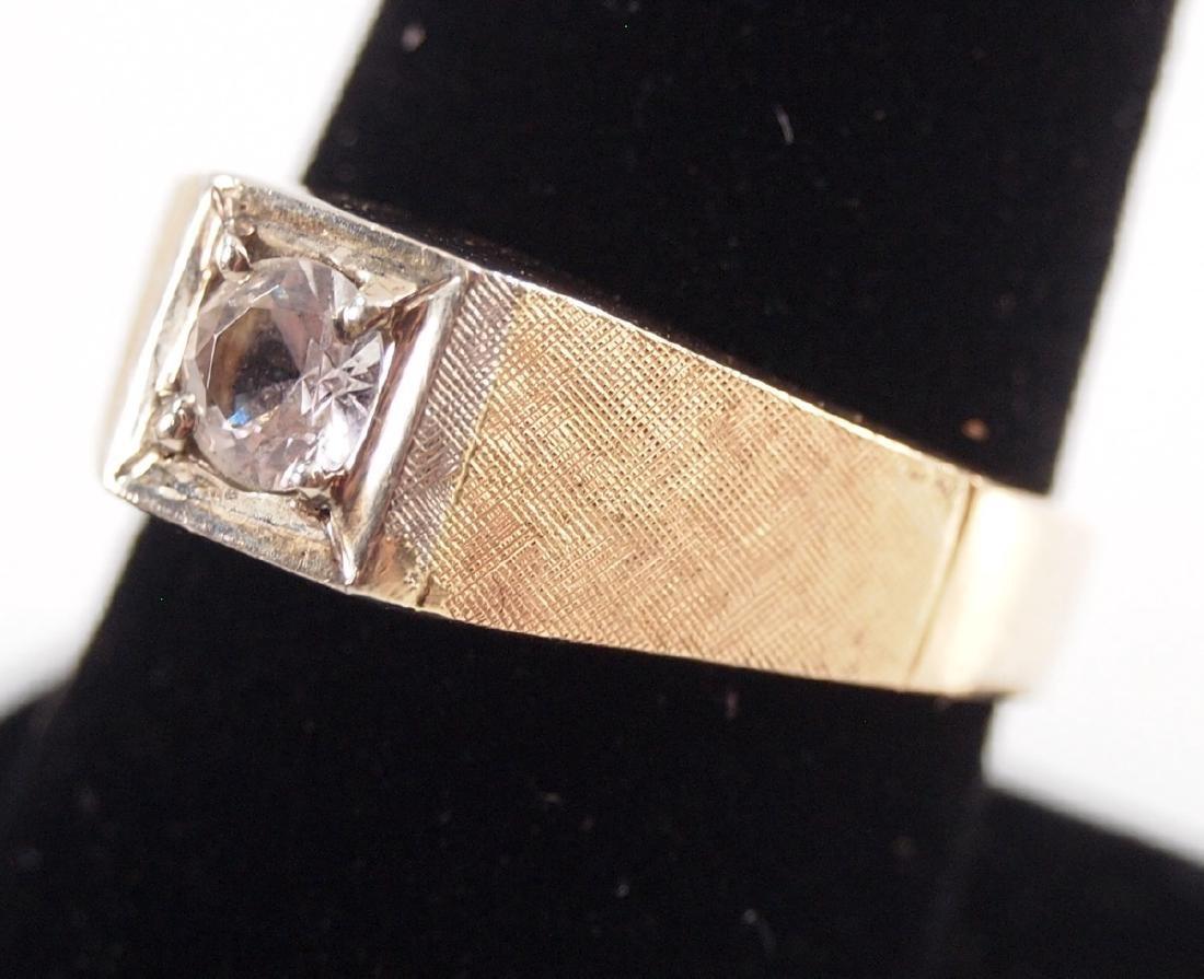 4 Yellow Gold Precious & Semi-Precious Stone Rings - 3