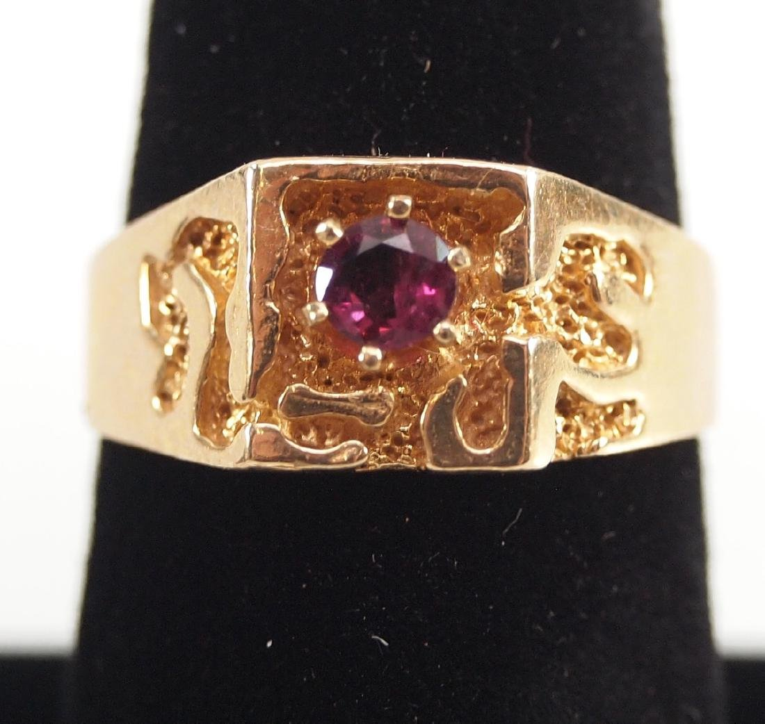 4 Yellow Gold Precious & Semi-Precious Stone Rings - 4
