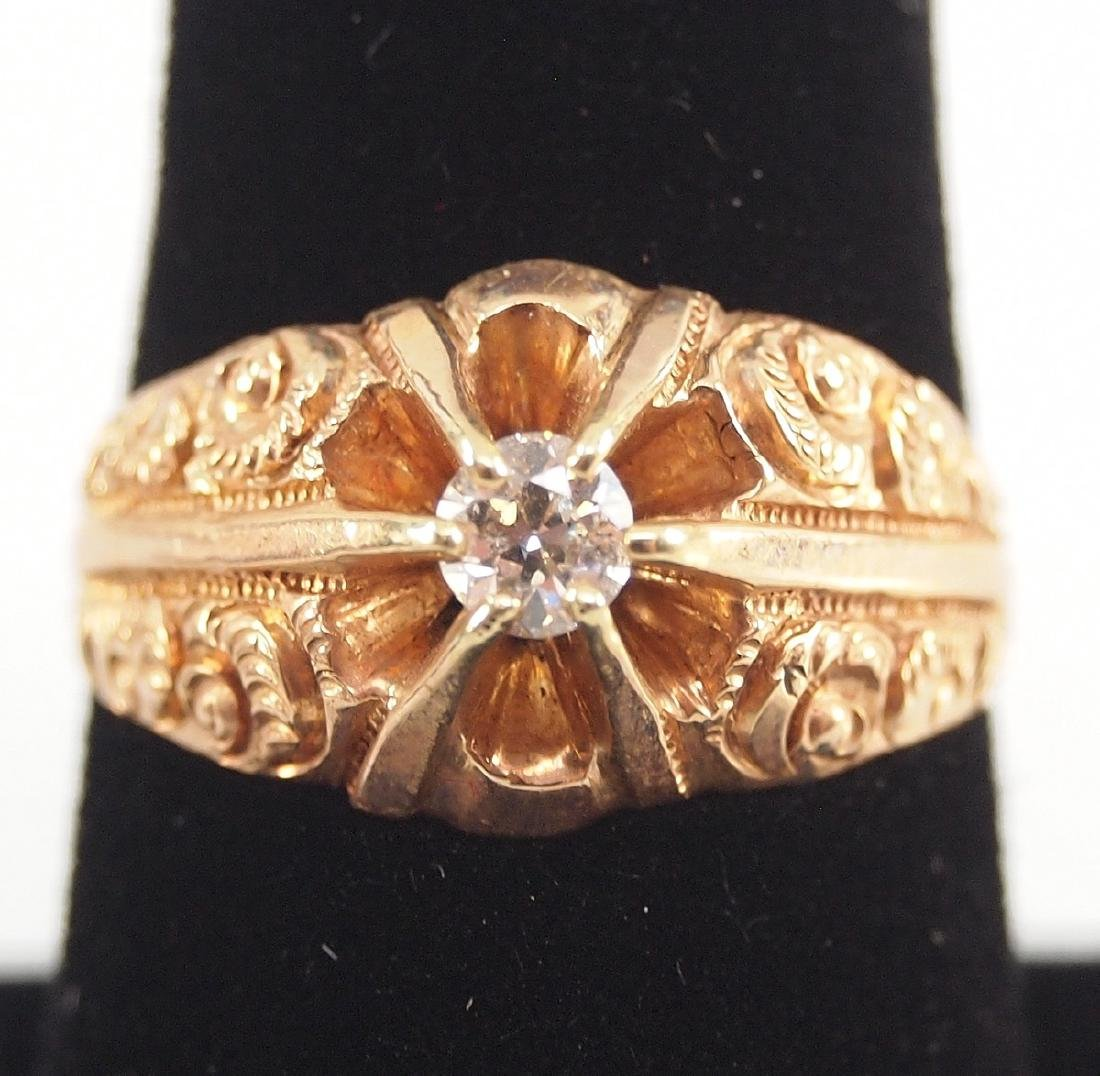 4 Yellow Gold Precious & Semi-Precious Stone Rings - 5