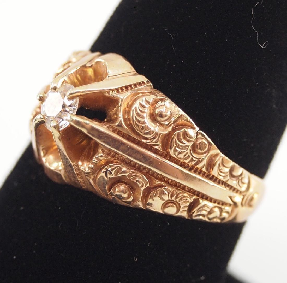 4 Yellow Gold Precious & Semi-Precious Stone Rings - 6