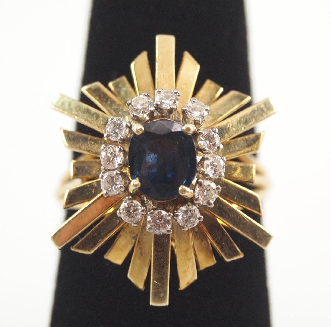 3 Gold, Sapphire, & Diamond Rings - 2