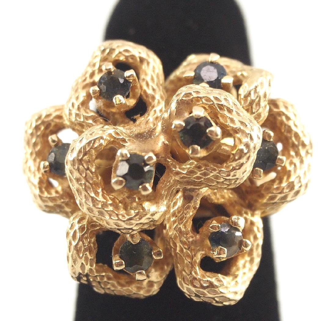 3 Gold, Sapphire, & Diamond Rings - 4
