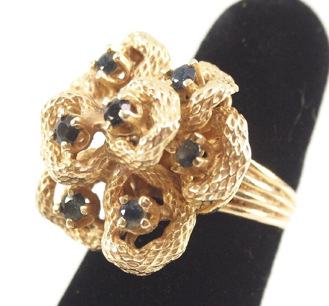 3 Gold, Sapphire, & Diamond Rings - 5
