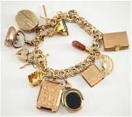 14 kt Yellow Gold Bracelet w/Charms