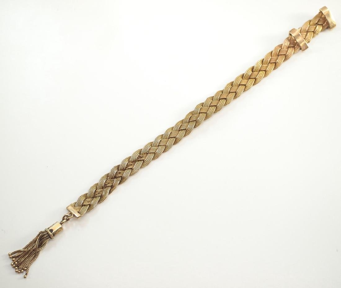 Victorian 18kt Yellow Gold Braided Bracelet