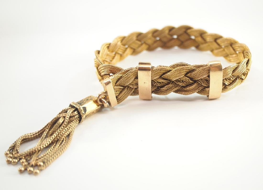 Victorian 18kt Yellow Gold Braided Bracelet - 2
