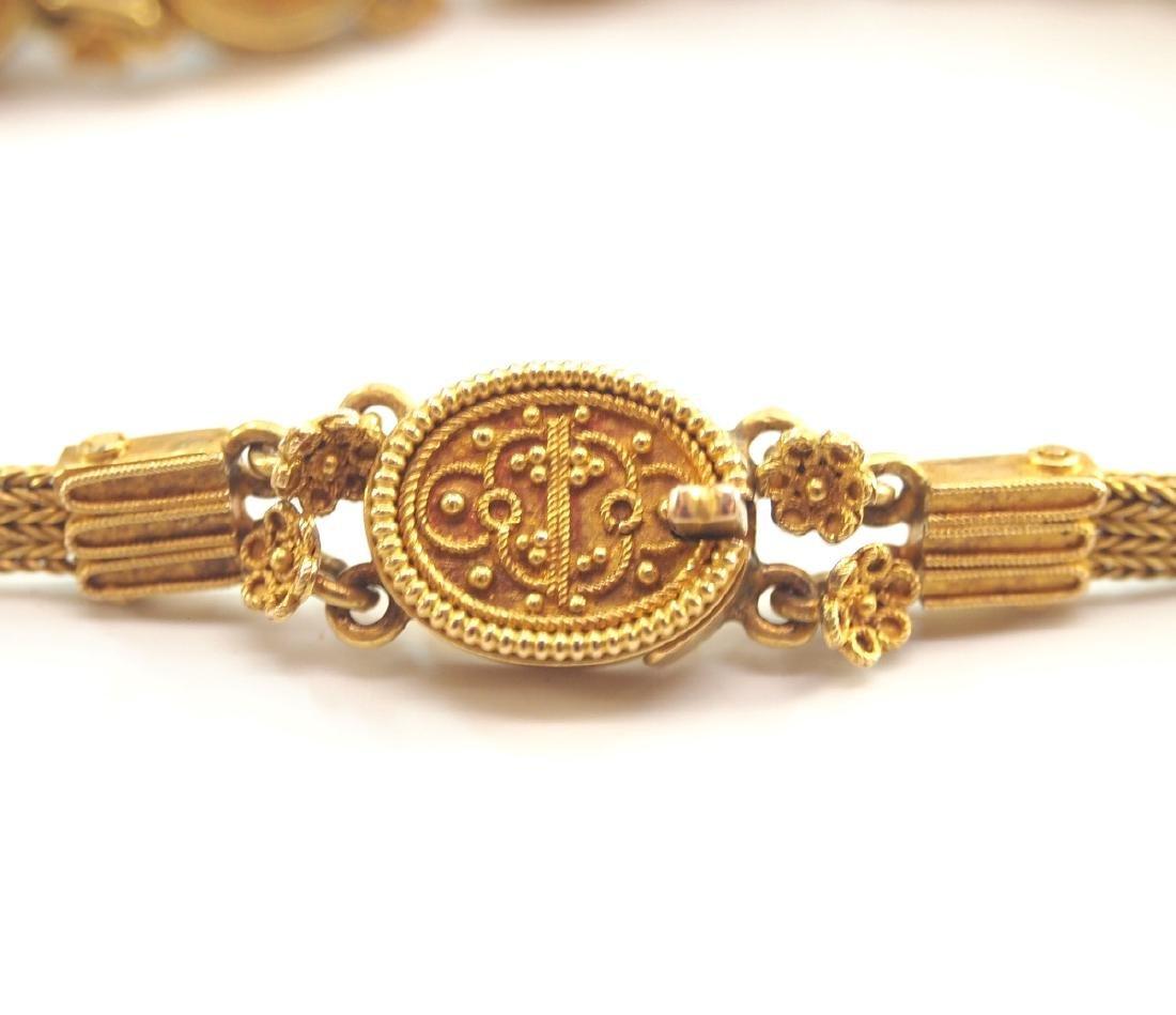 Victorian 20 kt Yellow Gold & Lapis Bracelet - 3