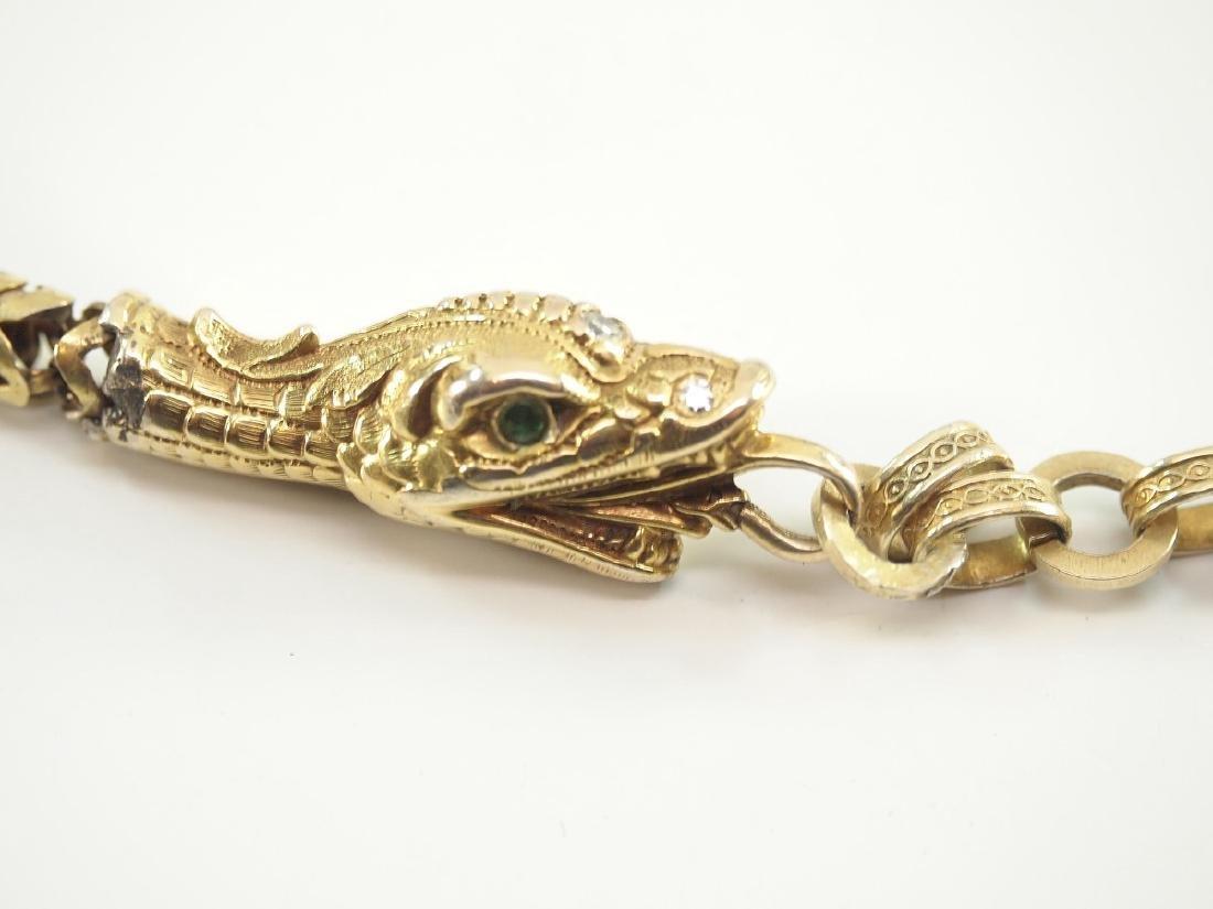 Victorian Snake Form Watch Chain