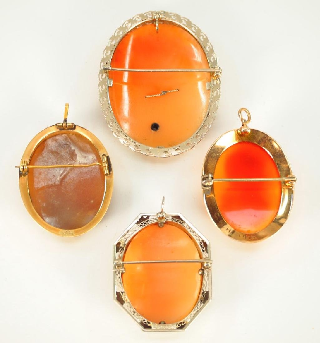 4 Cameo Brooches - 2