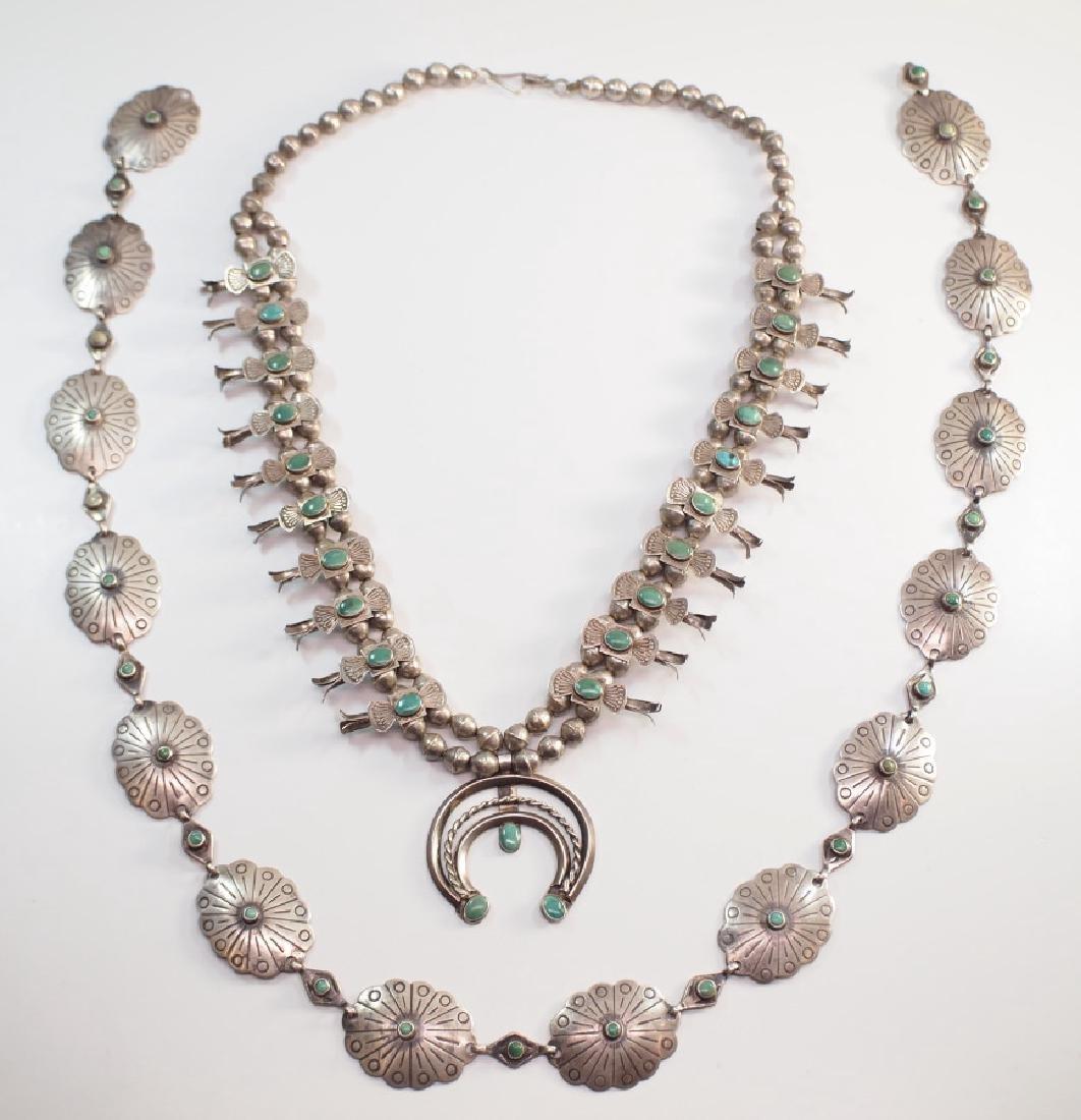 Navajo Concho Belt & Necklace