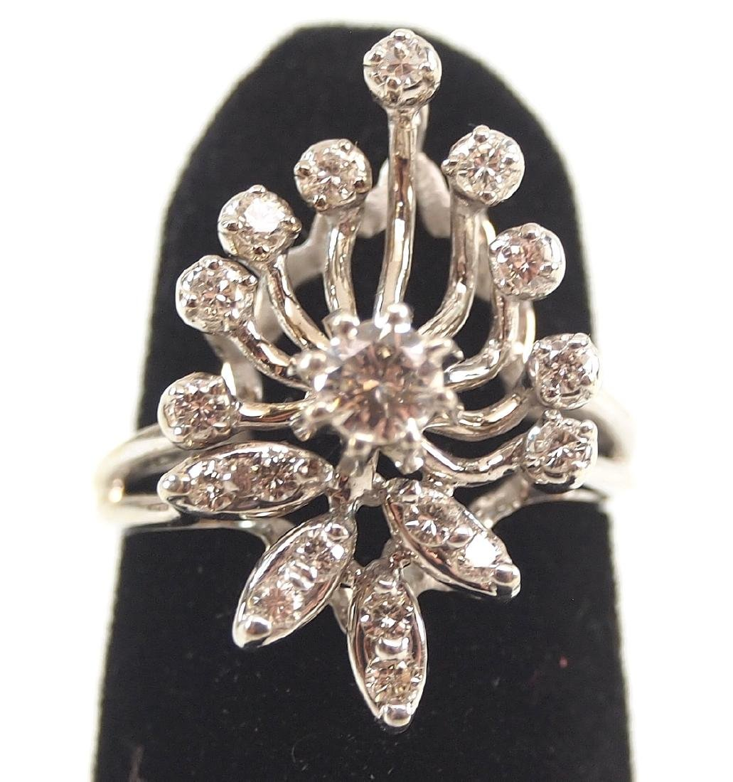 3 14 kt Gold Rings w/Diamonds & Topaz - 3