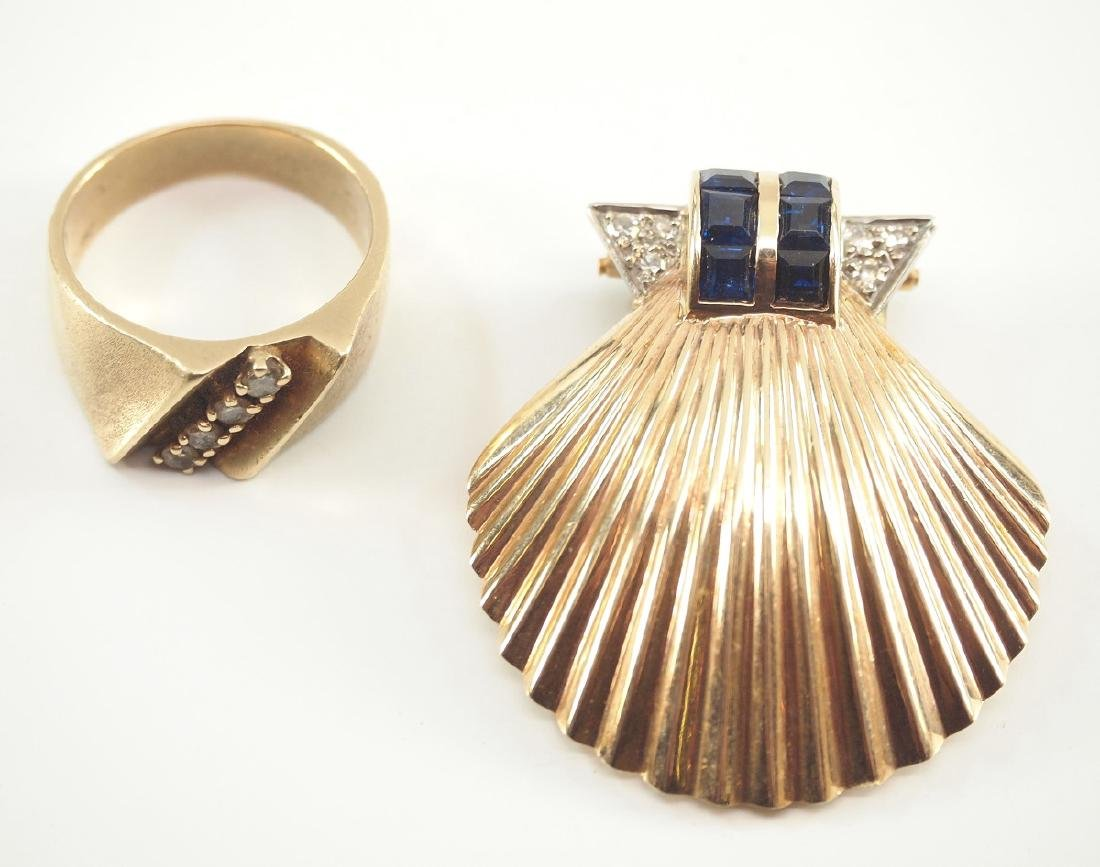 Art Deco Pin Clip & Ring