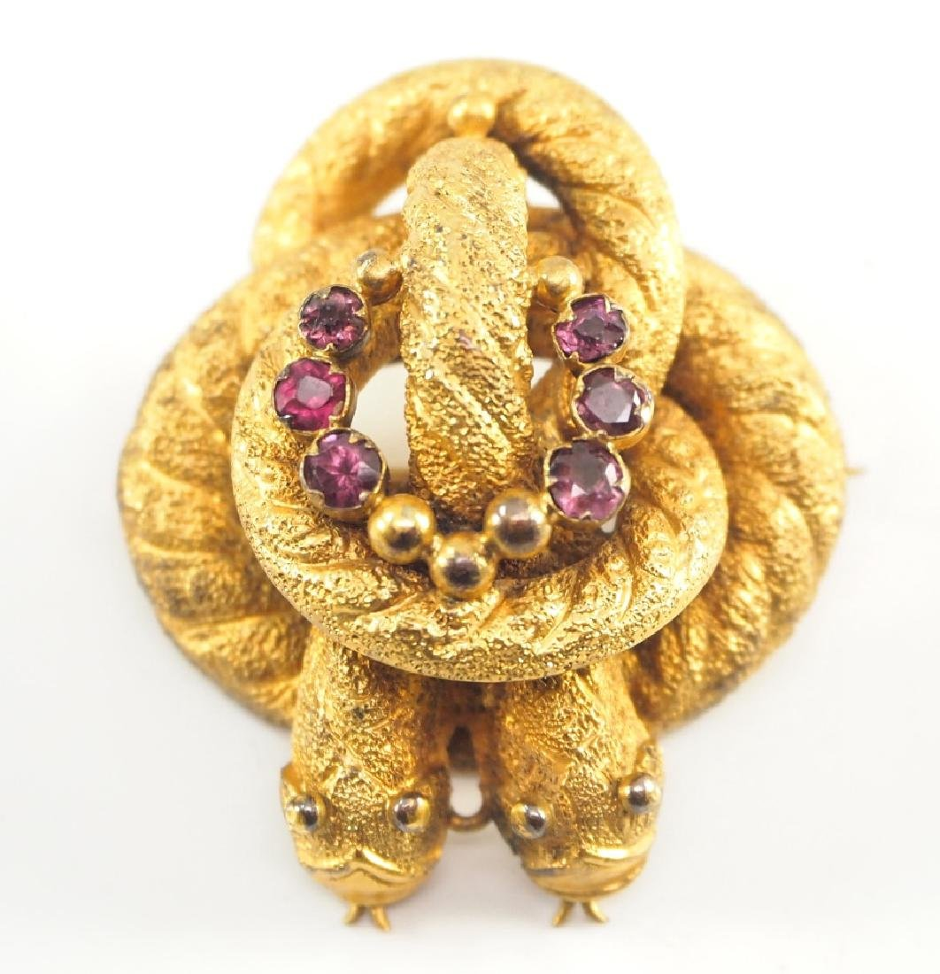18 kt Gold Georgian Almandine Garnet Brooch
