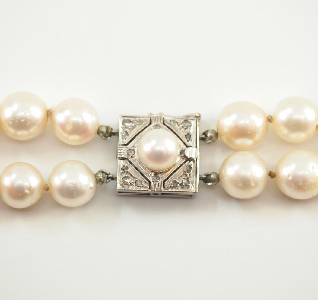 Pearl double strand Necklace - 2