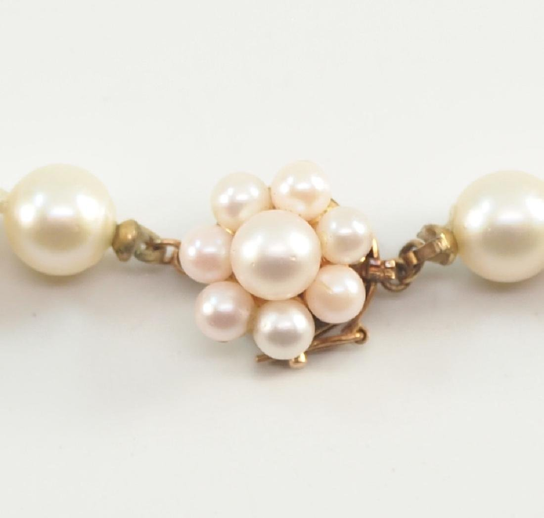 Pearl necklace with pearl clasp - 2