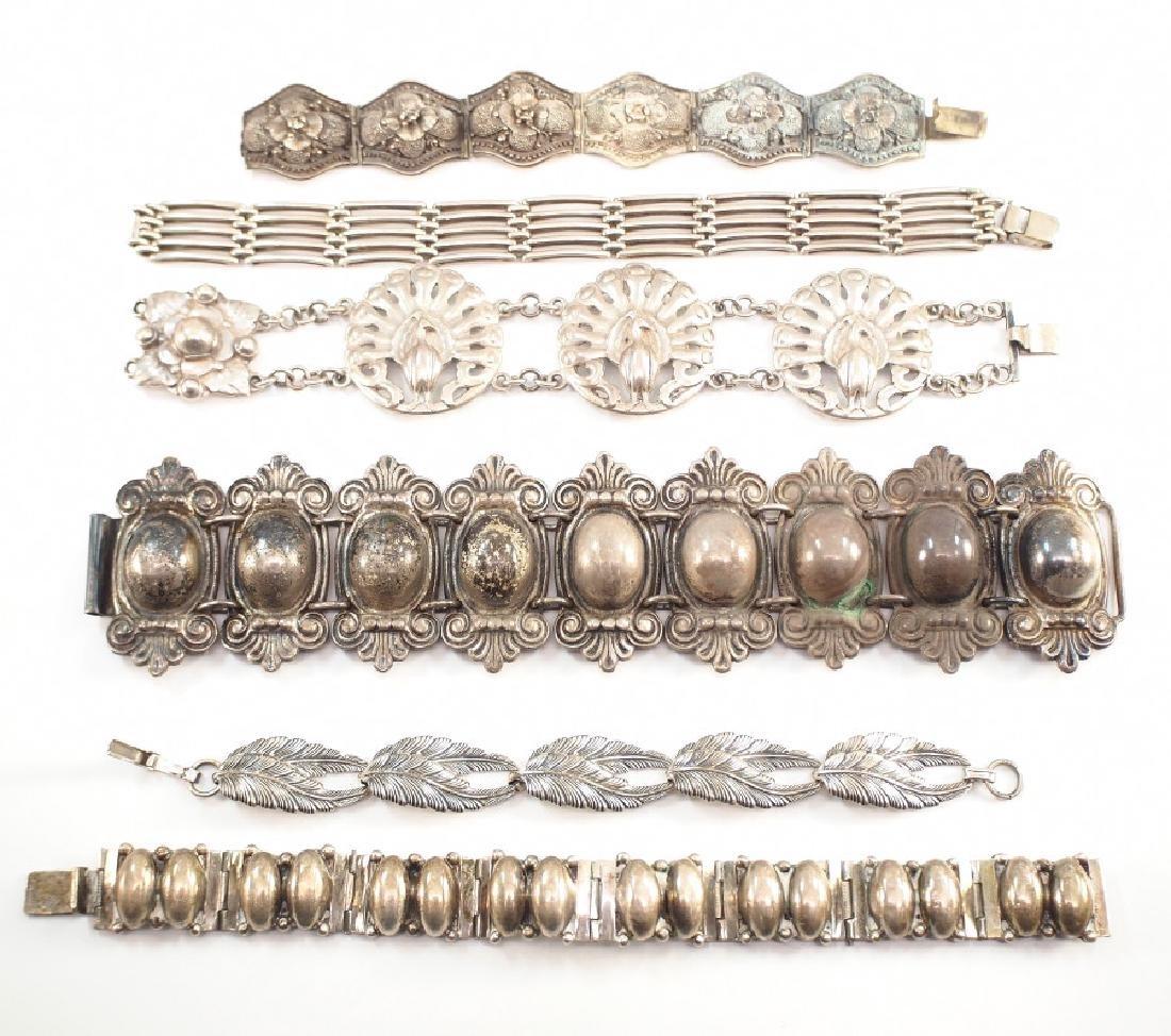 6 Silver Bracelets