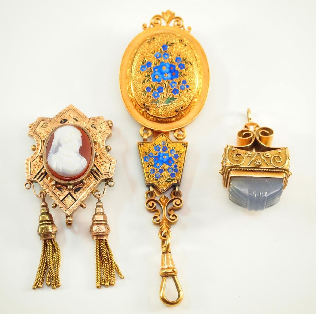 3 Victorian Gold Accessories