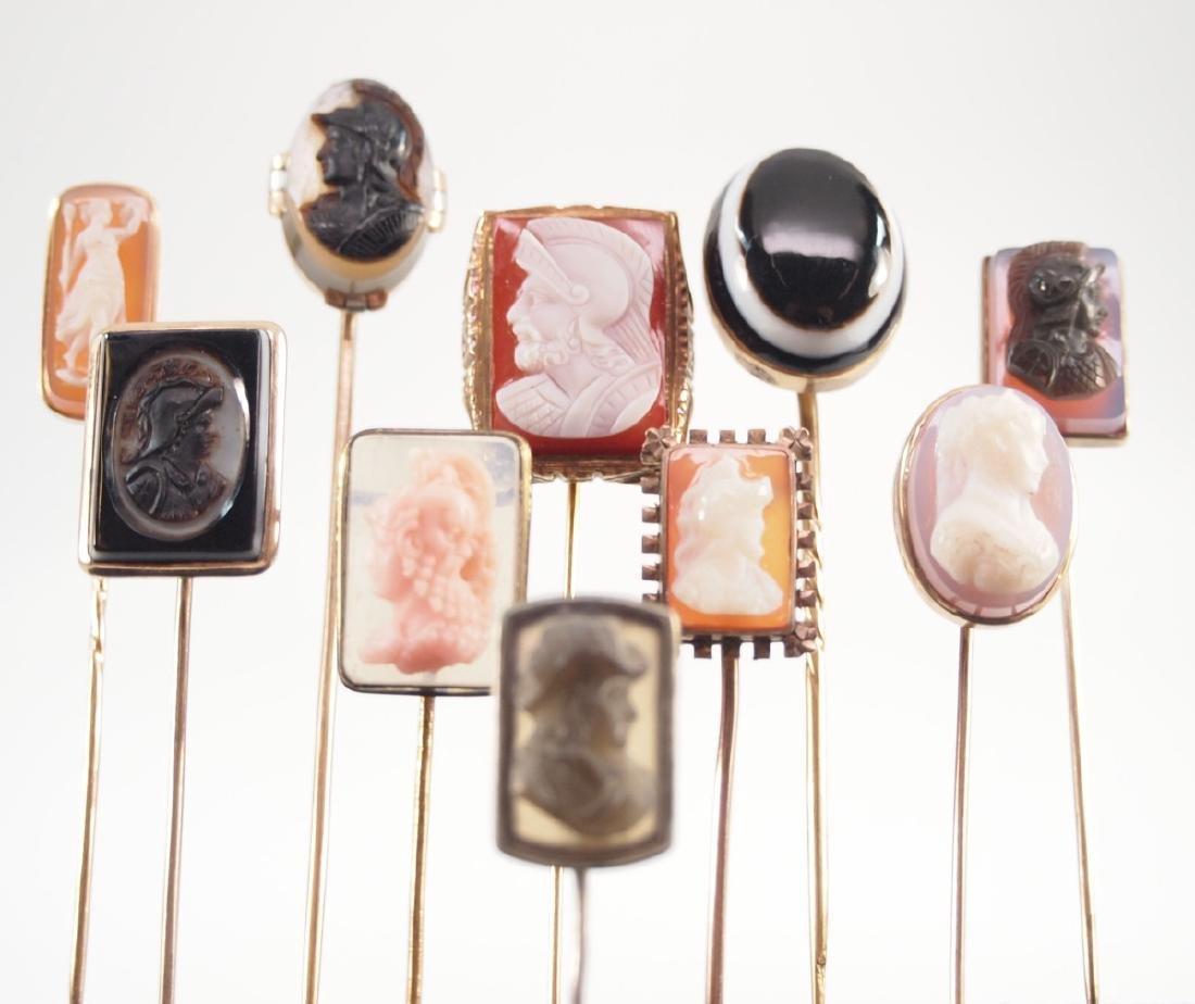 Ten Late Victorian Stick Pins