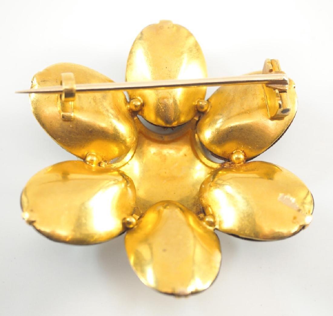 Victorian Yellow Gold Scarab Beetle Brooch - 2