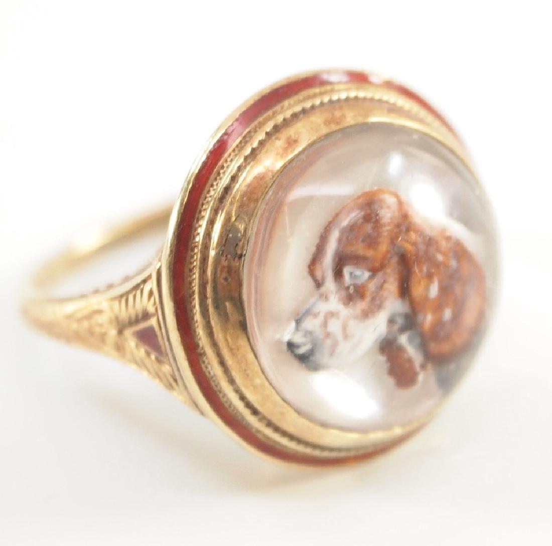 14 kt Reverse-Carved Intaglio Ring - 2