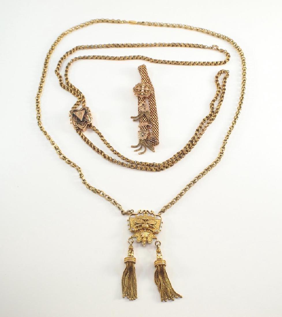 2 Victorian Necklaces & a Bracelet
