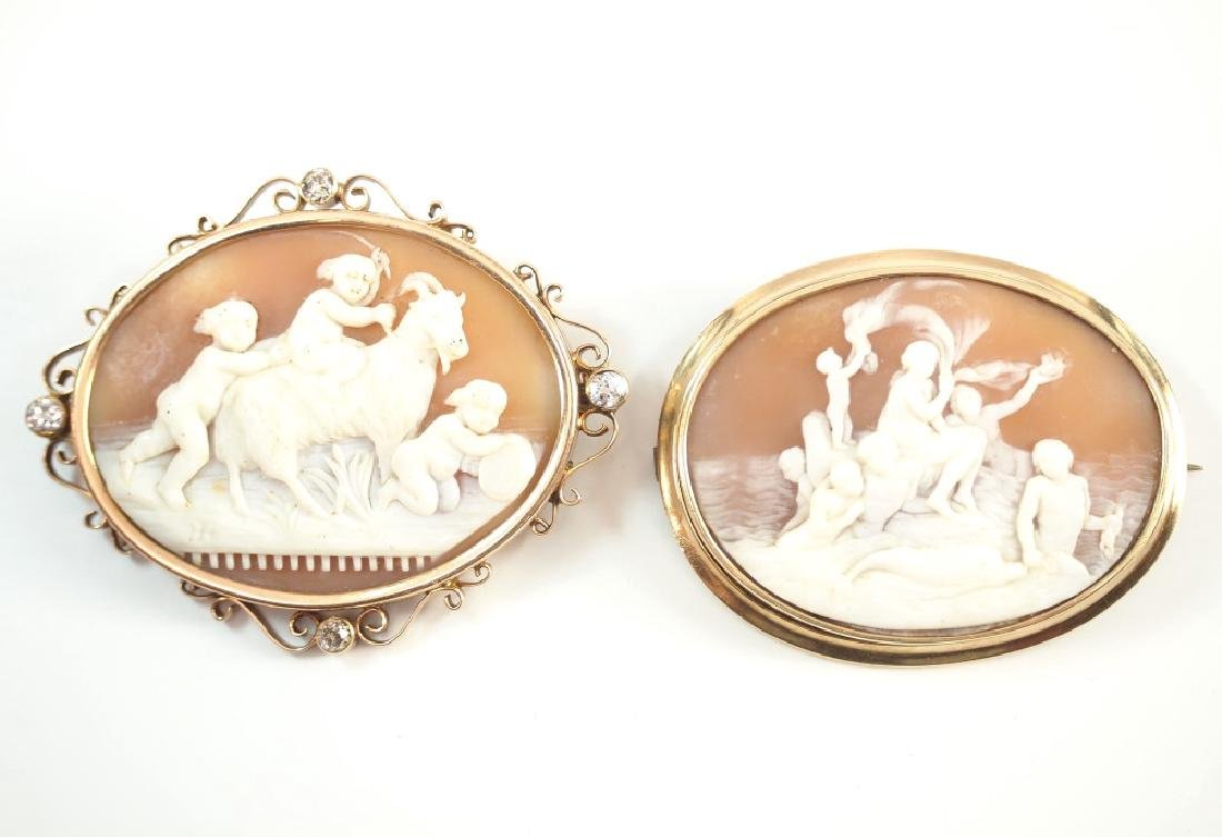 2 Cameo Brooches - 2