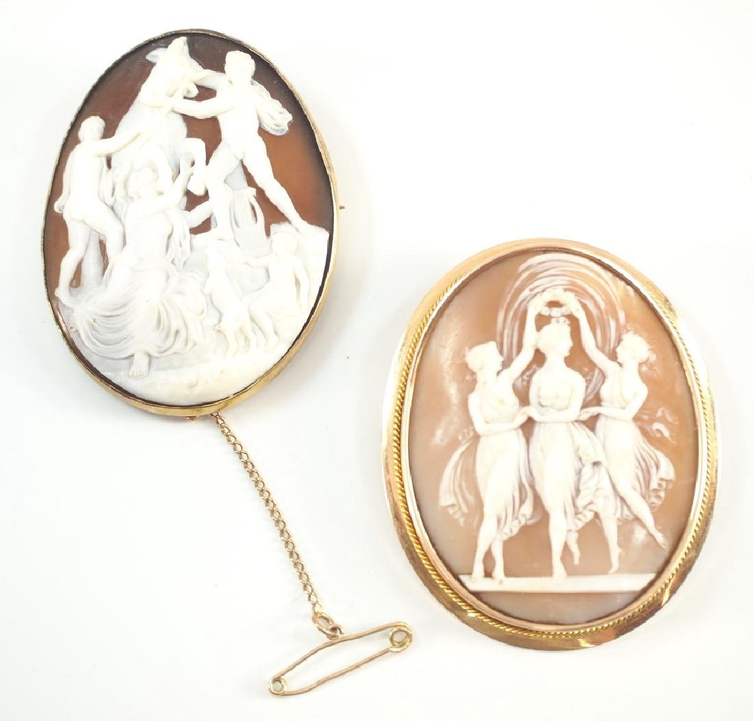 2 Cameo Brooches