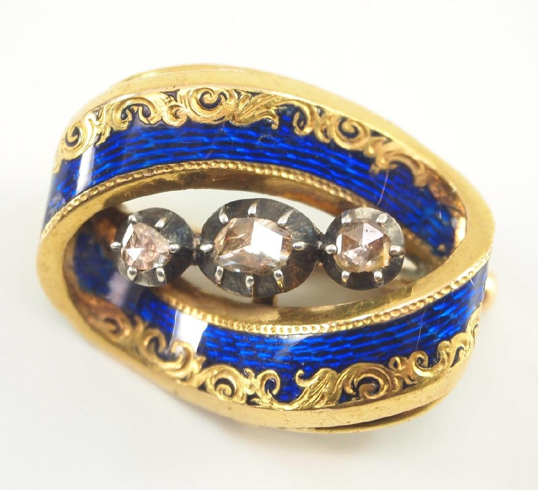 Late 19th Century Yellow Gold Pendant/Brooch