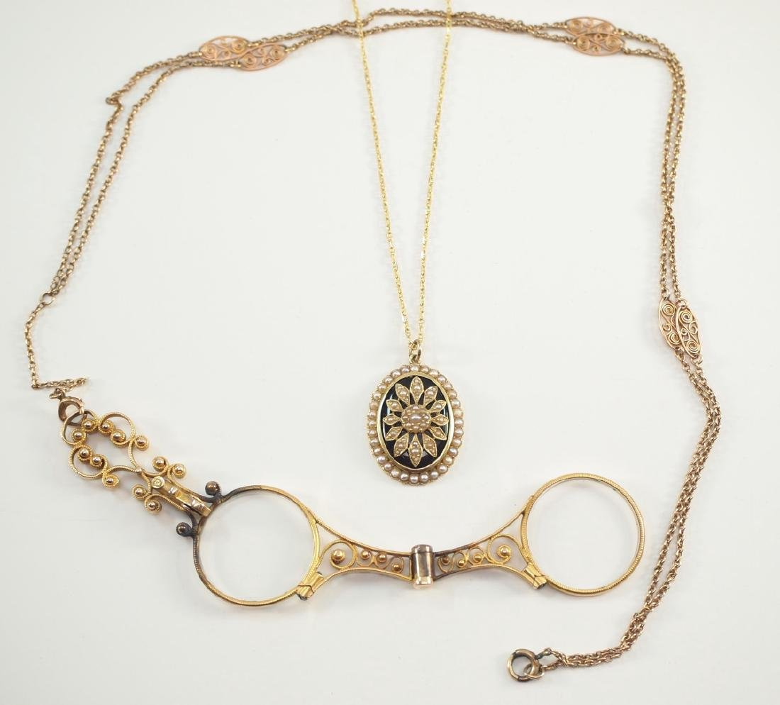 Victorian Pendant & Edwardian Lorgnettes