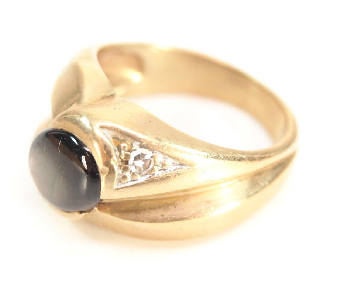 14 kt Yellow Gold & Tiger's Eye ring - 2